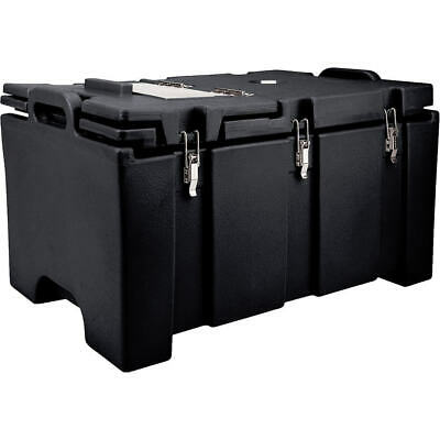 Cambro 40 Qt Cooler With Hinged Serving Lid Black 100Mpchl-110