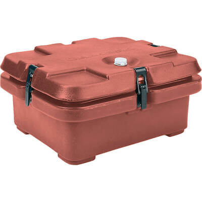 Cambro Top Loading Insulated Food Carrier, Half Size Pans Brick Red 240Mpc-402