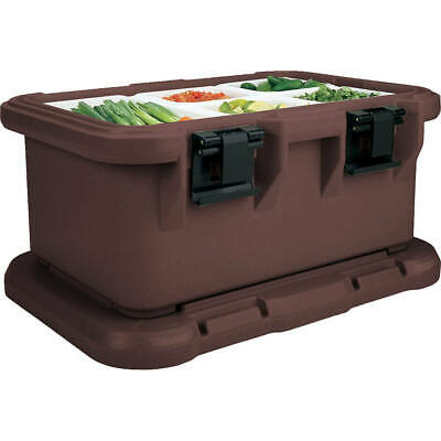 "Cambro Insulated Food Carrier For 6"" Deep Pans, Top Loading S-Series Dark Brown"