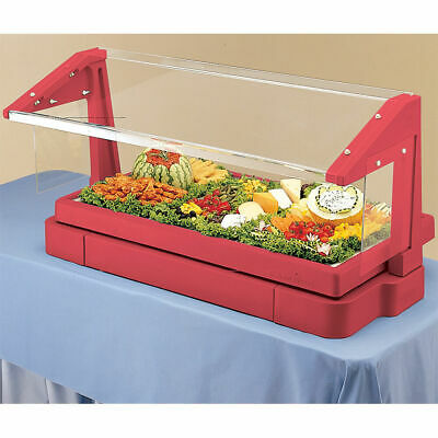 Cambro 4Ft Table Top Buffet Bar With Sneeze Guard Hot Red Bbr480-158