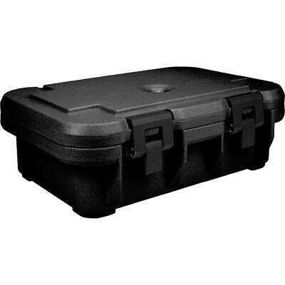 "Cambro Insulated Food Carrier For 4"" Deep Pans, Top Loading S-Series Black"