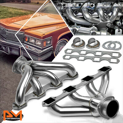 TUPARTS Exhaust System HDSBBC82L Stainless Steel Exhaust Manifold Kit Replacement for 1968-1976 Cadillac Calais 1968-1974 Cadillac Commercial Chassis 1968-1979 Cadillac DeVille