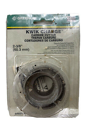 Greenlee 645-2-3/8 Quick Change Stainless Steel Hole Cutter, 2-3/8-Inch
