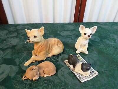 4 Adorable Sandicast/United Design/Martin Carey Chihuahua Figurines