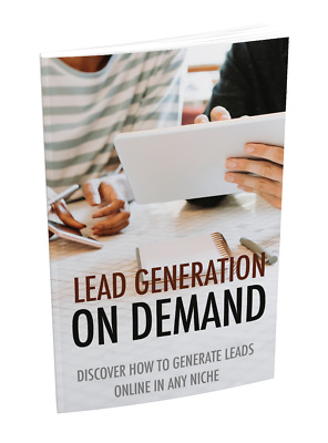 Lead Generation On Demand PDF eBook with master resell rights 24 Hour Delivery