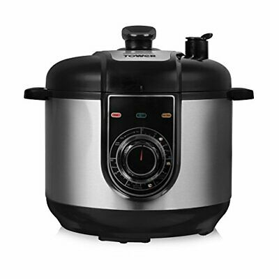 Tower Health Multi-Function Electric Pressure Cooker, Steamer, Rice Cooker,