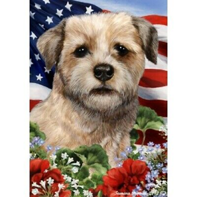 Patriotic (1) House Flag - Border Terrier 16122