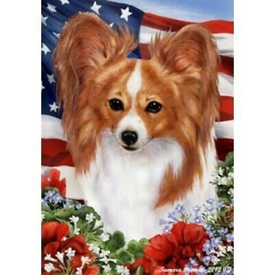 Patriotic (1) House Flag - Red and White Papillon 16064
