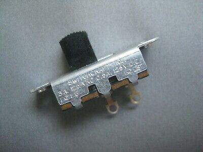 Vintage Switchcraft ON-OFF Slide Switch 3A @ 120 AC & .5A @ 125 DC, UND LAB