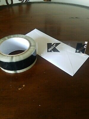 """Kmart Retail Stores Clear Black Logo Security Sign Packing Tape 2"""" 110yds Roll"""