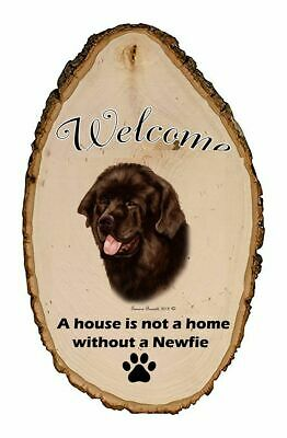 Outdoor Welcome Sign (TB) - Chocolate Newfoundland 51910