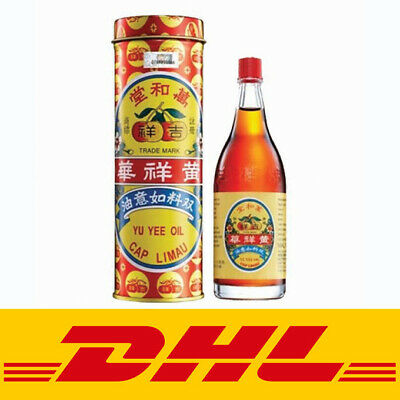 2 Bottle Yu Yee Medicated Oil Relief Stomach Discomfort & Baby Colic 48ml by DHL