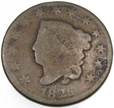 1825 U.S. Large Cent 1c coin
