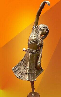 ART DECO BRONZE COSSACK DANCER STATUE SIGNED Chiparus FIGURE HOT CAST FIGURINE