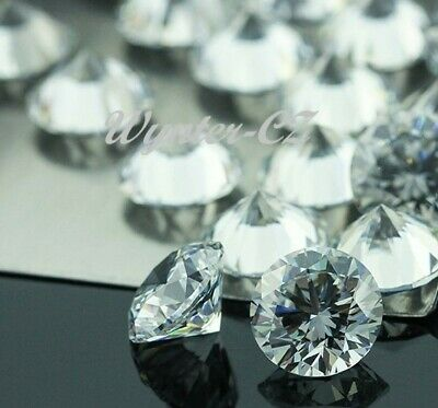 4mm champagne cubic zirconia round cut 10 stones or £1.50p