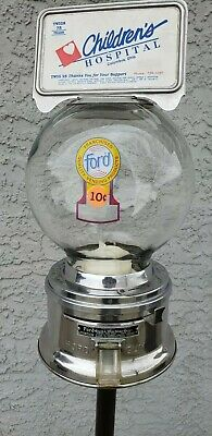 Antique Ford Gum Gumball Machine Glass Globe