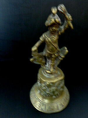 Cloche TABLE ancienne Bronze Signee F Hemony 1669 Grotesque AMOUR STYLE 17 EME