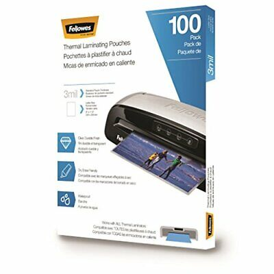 Fellowes Thermal Laminating Pouches/Sheets Letter Size 9 x 11.5-Inches 3 mil ...