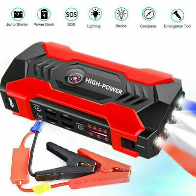 Car Jump Starter, 1000A Peak 20000mAh Portable Charger with LED Flash Light
