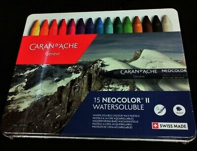 Caran Dache Neocolor Ii Pastel 15 Colour Metal Box Set