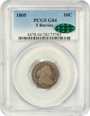 1805 10c PCGS/CAC Good-04 (5 Berries) Desirable Type Coin - Bust Dime