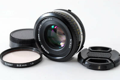 Used NIKON Ai-S NIKKOR 50mm f1.8 pancake lens filters before and after the c