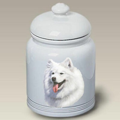 Samoyed Ceramic Treat Jar LP 45077