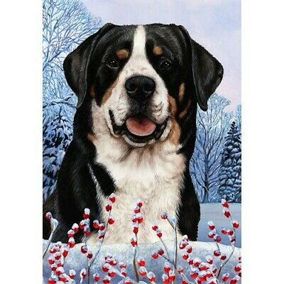 Winter House Flag - Greater Swiss Mountain Dog 15144