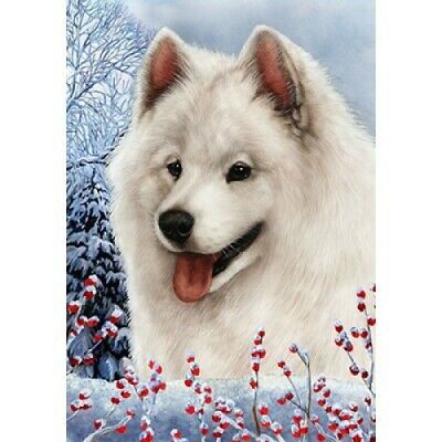 Winter House Flag - Samoyed 15077