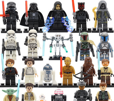 Star Wars Minifigures Baby Yoda Darth Vader Kylo Ren Sith Luke Skywalker Obi Wan