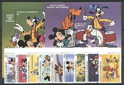 Walt Disney - Antigua u.Barbuda - 2440-2448, Bl.356-357 ** MNH 1997
