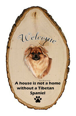 Outdoor Welcome Sign (TB) - Red Tibetan Spaniel 51477