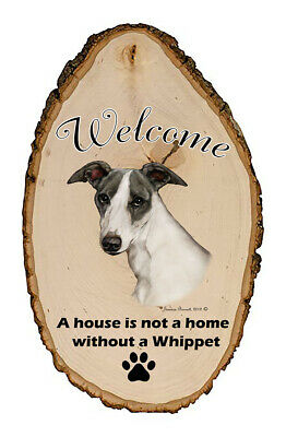 Outdoor Welcome Sign (TB) - Blue and White Whippet 51440