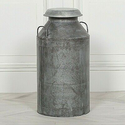 Vintage Style Antiqued Tin Milk Churn