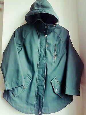 Zara Girl Outwear Green Hooded Coat With Removable Waistcoat Age 11/12