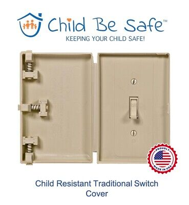 Child Be Safe IVORY Traditional Style Switch Protector Baby Safety Cover Guard