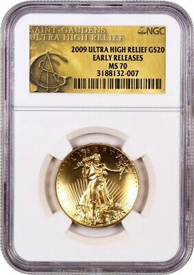 2009 Ultra High Relief $20 NGC MS70 (Early Releases) - UHR Double Eagle Gold