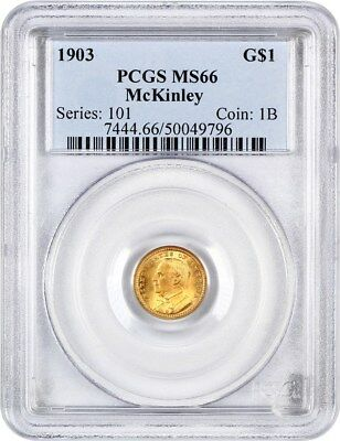 1903 McKinley G$1 PCGS MS66 - Classic Commemorative - Gold Coin