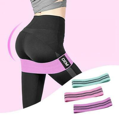 EVO Fabric Resistance Bands Butt Exercise Loop Circles Set Legs Glutes Women Men