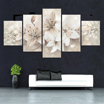 5 * Unframed Modern Flower Art Oil Canvas Painting Picture Print Home Wall Decor
