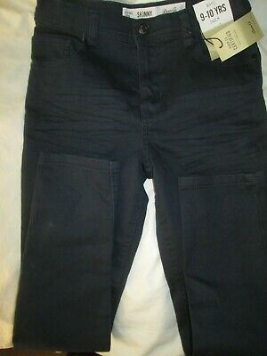 Boys PRIMARK Jeans Age 9-10 Years 140CM BNWT NAVY DARK BLUE