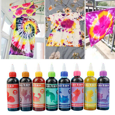 Tie Dye Kit Decorating Textile Paints DIY Clothing Non Toxic Permanent Fabric
