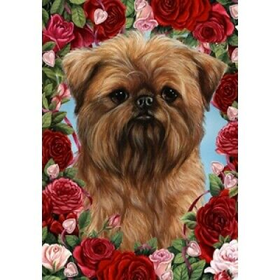Roses House Flag - Brussels Griffon 19128