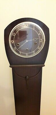 Smiths Enfield Victoria Working Grand Daughter Clock Westminster Chimes & Key
