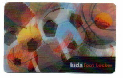Kids Foot Locker Lenticular Sports Balls Gift Card No $ Value Collectible