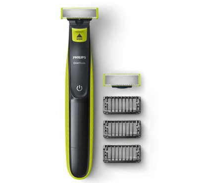 PHILIPS QP2520/30 - Rasoir/Tondeuse OneBlade + 1 lame de rechange + 3 sabots bar