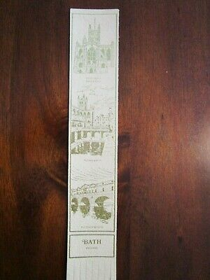 "Vtg 9"" Leather Bookmark England/Britain  Bath Free Shipping"