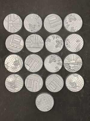Warhammer 40K Sector Imperialis Bases - 17x Round 32mm Bases - Mutilisting