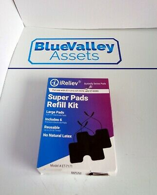 """iRELIEV ET-7171 3.5"""" X 5"""" REUSABLE NO NATURAL LATEX BUTTERFLY SERIES PADS, NEW"""