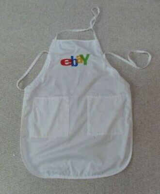 eBay Logo Collectible Full Length Apron Adult Cooking Used Old Logo 2 Lrg Pocket